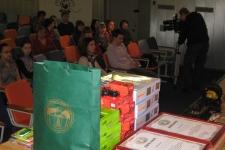 Памятные подарки и ценные призы от Облизбиркома и Департамента образования