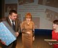 Награждение победителя олимпиады Арины Ганиной (учащаяся 10 класса МОУ СОШ №8 п. Спирово)